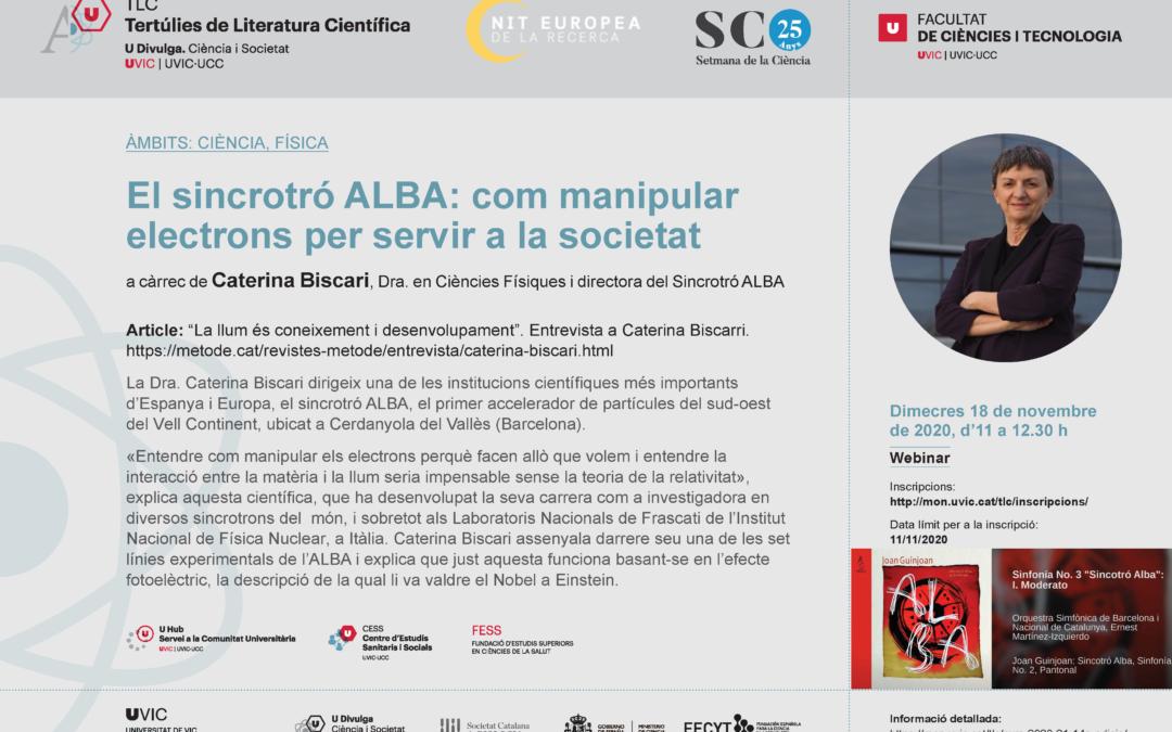El sincrotró ALBA: com manipular electrons per servir a la societat