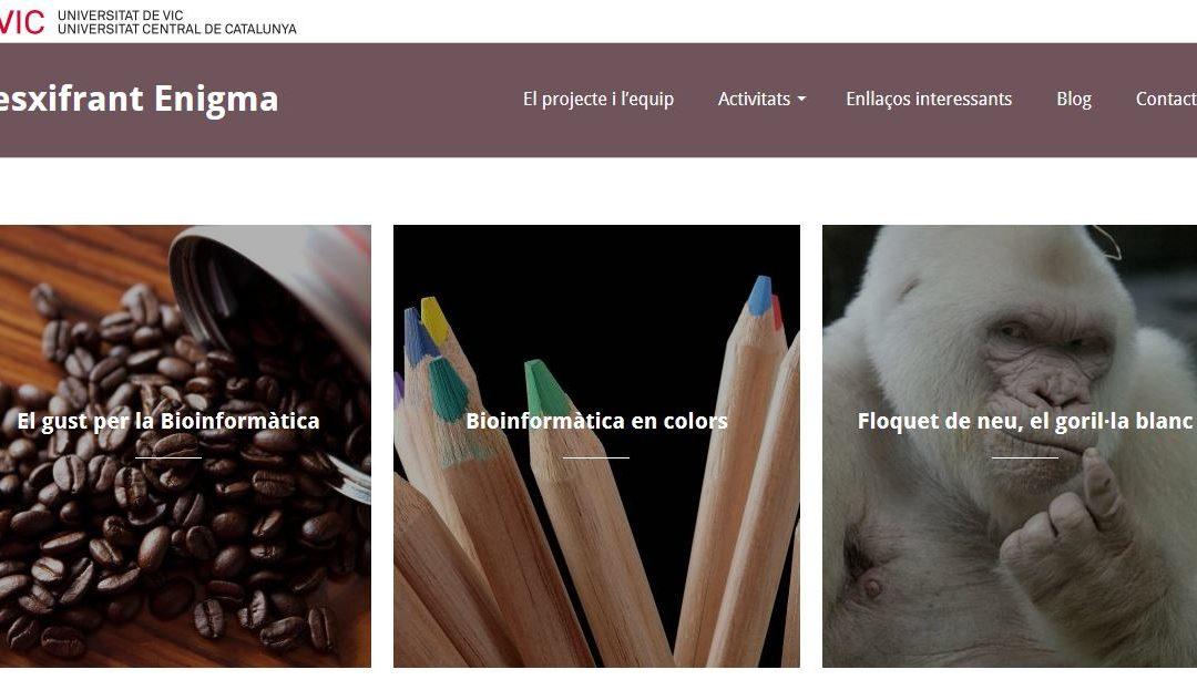 Desxifrant l'enigma. Projecte online de bioinformàtica educativa per a secundària i batxillerat